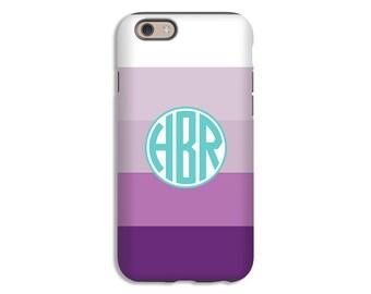 Monogram iPhone case, purple ombre' stripes iPhone SE case, iPhone 6s Plus case, iPhone 5s case, iPhone 6 Plus case/6 case, iPhone 6s case