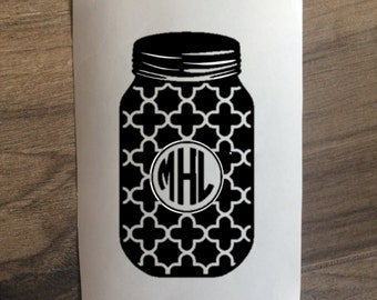 Unique mason jar decal related items Etsy