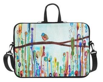 "Little Birdie Laptop Bag 14"" or 17"""