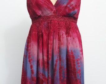 Silk Tie Dye Dress