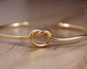 """18 K gold plated bracelet """"knot"""""""