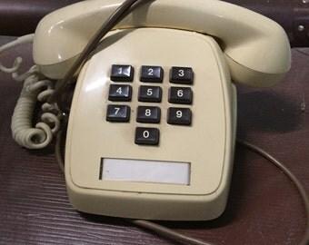 Vintage 1980s Telecom Touch Phone - cream
