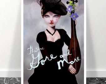 Mysterious cat Catwoman (N05) Girls Room Art Print Wall Decor Art Print Home Decor Wall Hanging
