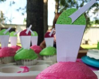 25 Cupcake Toppers (Custom)