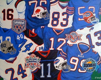 Custom Sports Team Jersey Paintings