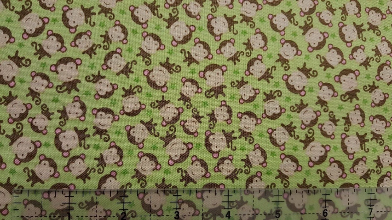 Jungle animals nursery fabric new baby monkey toss green for Nursery monkey fabric