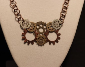 Owl Steam Punk Necklace