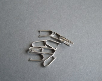 Sterling Silver Pinch Bail - 3/pack