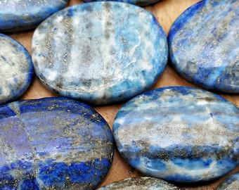 Lapis Lazuli Crystal Healing Worry Stone -  Pocket Palm Stone 164