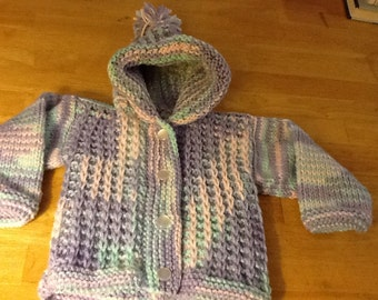 Baby hooded sweater sz 4