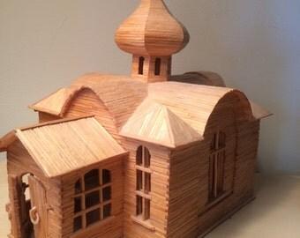 Folk Art, Original Matchstick Church Model