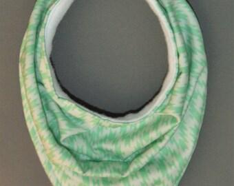 Mint Green Patterned Bandana Bib
