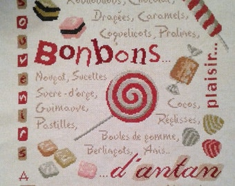 borderie Lilipoints candy cross stitch