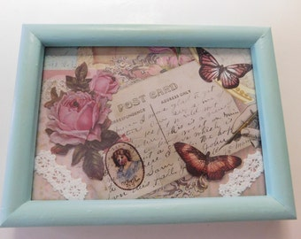 Shabby Chic Collage, Framed