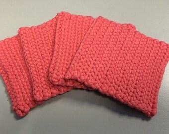 Handmade crocheted coasters (set of 4)