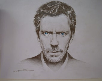 Doctor House doctor House portrait drawing Hugh Laurie