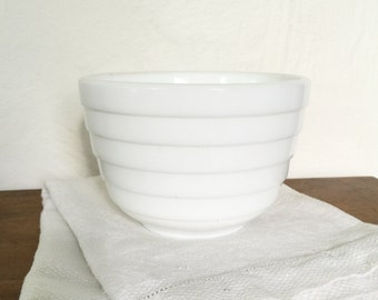 Sale, Milk Glass Mixing Bowl, vintage, milk glass, beehive, Farmhouse, vintage kitchen