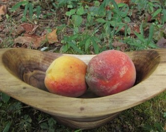 Hand Carved Walnut Bowl