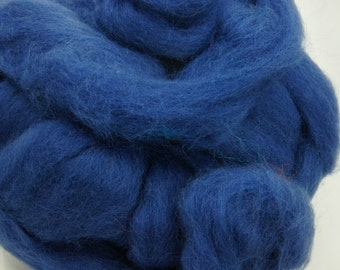 Blue Felting Wool - Roving Wool - Wool for Needle Felting - Spinning Wool - Knitting Wool - Wool for Spinning - New Zealand Wool
