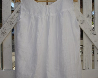 White line blouse beach boho style