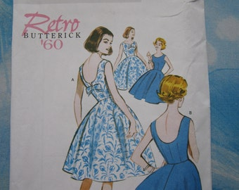 Butterick 5748 60's Reproduction Dress Sewing Pattern 14-22