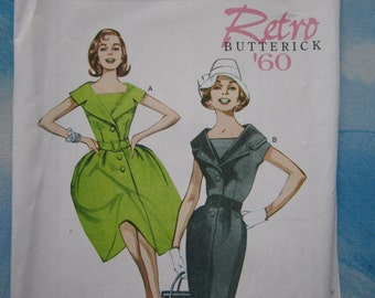 Butterick 5747 1960 Reproduction Dress Sewing Pattern 16-24