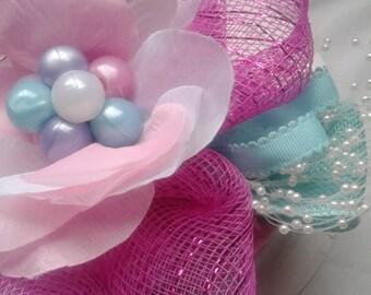 Bubble Gum Colored Brooch