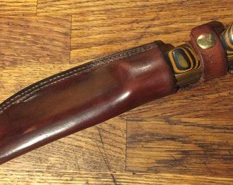 Hand made Bushcraft Knife and Sheath