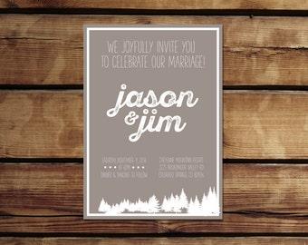 Mountain Wedding Invitation | Digital Download