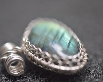 Labradorite charm 925 Silver