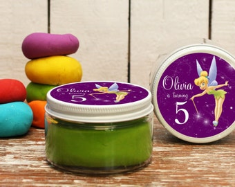 Set of 6 -  Tinkerbell Party Favors // Tinkerbell Birthday Party Favors // Play Dough Party Favors // Tinkerbell Birthday Party