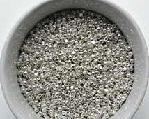 8/0 Charlotte Cut Beads Sterling Silver 10/20/50/250/500 Grams 425 Pieces