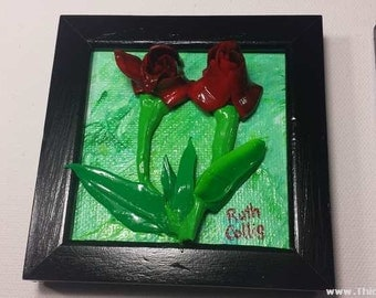 Russian Tulips Sculptural Painting