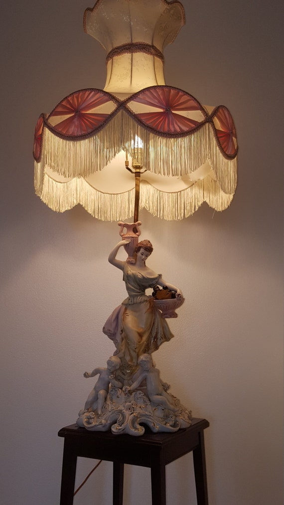 On Sale Extra Large Lamp Capodimonte Style Porcelain By Vinjie