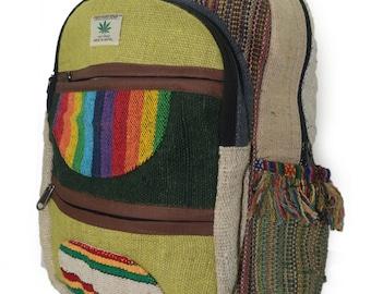 Handmade Nepal Hemp and Cotton Backpack Type 3