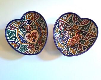 Set of Heart Bowls