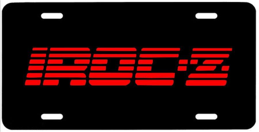 irocz metal license plate red iroc z 28 emblem sign camaro