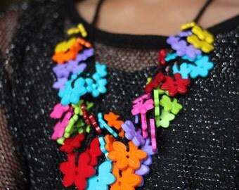 Floral Button Necklace