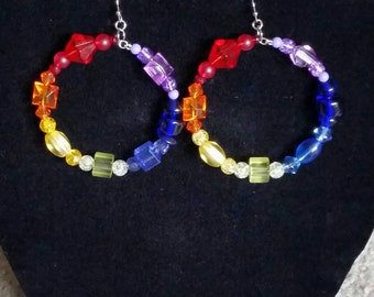 LGBT Pride Bead Earrings
