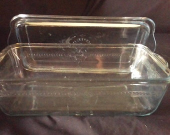 1920s glass meat loaf Dish.