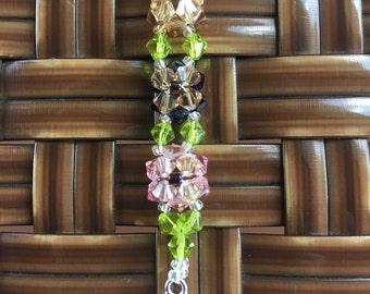 swarovski 2 layer flower bbracelet