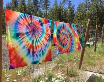 swirl tie dye curtains/tapestry