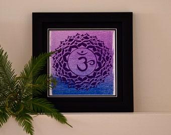 Chakra art Sahasrara 7th Chakra Meditation Symbol