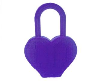 Heart Love Padlock Love Lock 3d Printed