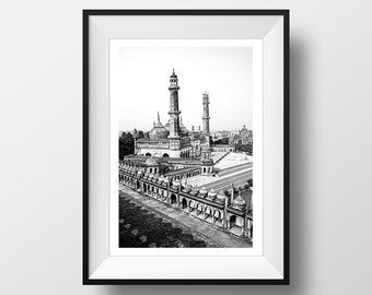 Temple in India, Black and White Photography, Digital Download, Printable Wall Art, Black and White Print, Travel Photo, Instant Download