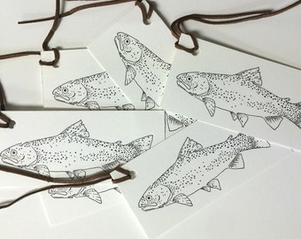 Trout Gift Tags - Set of 6