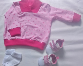 6-12 month Pink star sweatchirt