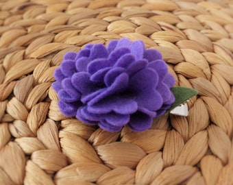 Felt Bloom Hair clip - Lavender