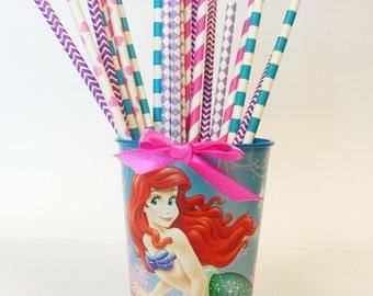 Little Mermaid Part Straws