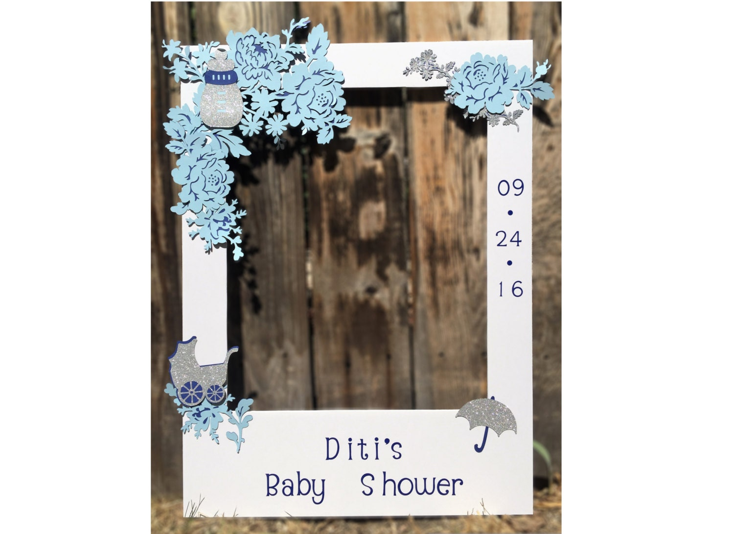 party photo booth prop giant picture frame baby shower
